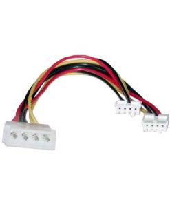 RC-5039-8Ware Molex Power Splitter Cable 30cm 2x3.5' to 1x5.25' Female to Male