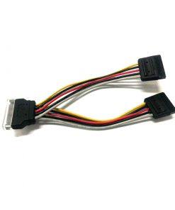 RC-5084-8Ware SATA Power Splitter Cable 15cm 1 x 15-pin  - 2 x 15-pin Male to Female