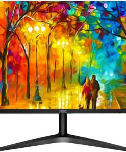 "27B1H/75-AOC 27"" IPS 9ms Full HD 3-Way Frameless Slim Monitor - HDMI1.4/VGA Tilt Low Blue Mode Flicker Free"