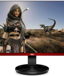 """G2590VXQ/75-AOC 24.5"""" 1ms 75Hz Full HD FreeSync Frameless Gaming Monitor - DP/HDMI/VGA Speaker Tilt VESA100mm Black & Red"""