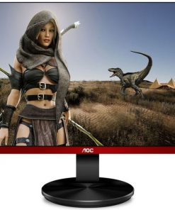 "G2790PX/75-AOC 27"" 1ms 144Hz Full HD FreeSync Frameless Gaming Monitor w/HAS - DP/HDMI/VGA USB3 Speaker VESA100mm Height Adjustable Stand Black & Red"