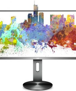 "I2490PXQU/75-AOC 23.8"" IPS 5ms Full HD Frameless Business Monitor w/HAS Pivot 90 degrees - VGA/HDMI/DP Speaker VESA100mm USB3 Height Adjustable"