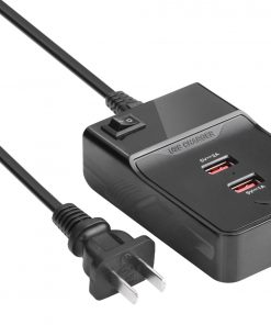 AT-CHARGERSTATION-3-Astrotek USB Charging Station Charger Hub 3 Port 5V 3A with 1.5m Power Cable Black for iPhone Samsung iPad Tablet GPS LS