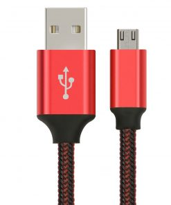 AT-USBMICROBR-1M-Astrotek 1m Micro USB Data Sync Charger Cable Cord Red Color for Samsung HTC Motorola Nokia Kndle Android Phone Tablet & Devices