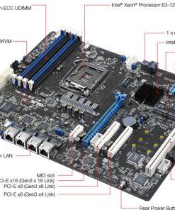 P10S-E-4L-ASUS P10S-E/4L Server Motherboard - Intel C236 Chipset - Socket H4 LGA-1151