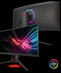 "XG35VQ-ASUS ROG STRIX XG35VQ 35"" UWQHD Gaming VA Curved 100Hz Eyecare Free-Sync HAS GamePlus DP HDMI USB3.0 Game Visual TUV Certified AURA SYNC Monitor"