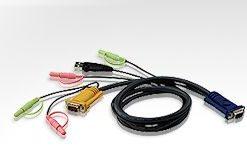 2L-5302U-Aten 1.8m USB KVM Cable with Audio to suit CS173xB