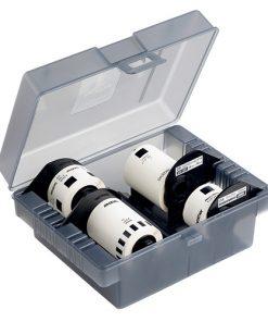 DK-4VPA-Brother DK-4VPA Plastic storage box with 4 starter rolls (CD/DVD labels
