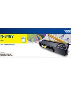 TN-346Y-Brother TN-346Y Colour Laser Toner- High Yield Yellow- HL-L8250CDN/8350CDW MFC-L8600CDW/L8850CDW - 3500Pages