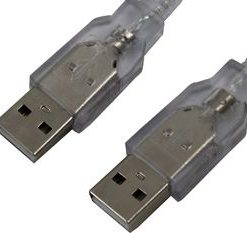 40USB2AA2-BK-Cabac 2m USB 2.0 Cable A(M) to A(M) Use to Connect Host to Host