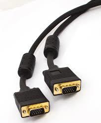 H40SVGAMM2-Cabac 2m SVGA Monitor Full 15 PIN Male to Male Triple Shielded Cable LS