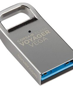 CMFVV3-64GB-Corsair Flash Voyager Vega 64GB USB 3.0 Flash Drive - Zinc Alloy Housing Plug and Play Ultra-Compact Low Profile LS