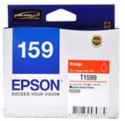 C13T159990-Epson 159 Orange Ink Cartridge Suits R2000 Pritner
