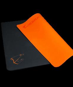 AMP500-Gigabyte AORUS AMP500 Hybrid Gaming Mouse Pad Fabric Black Surface Organse Silicon Base Heat Molding Edge Spill-Resistant Washable 430x370x1.8mm
