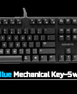 FORCE-K83-BLUE-Gigabyte FORCE K83 Mechanical Gaming Keyboard Cherry MX Blue Switch Anti-ghosting Function & Windows-lock hotkeys Wear Resistant Keycaps