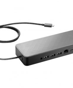2UF95AA-HP USB Type-C Universal Dock with 4.5 mm & USB Dock Adapter USB3.0 3xUSB2.0 1xType-C RJ45 LAN 2xDP 2x4000 or 1x5000 displays for HP 1040 G4 470 G5 450
