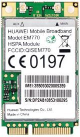 EM770-Huawei 3G Int Modem EM770 Internal mini PCI card