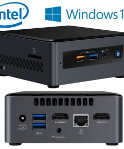 "BOXNUC7CJYSAL4-Intel NUC mini PC J4005 2.7GHz 4GB DDR4 32GB eMMC 2.5"" HDD Windows 10 Home 2xHDMI 2xDisplays GbE LAN WiFi BT 4xUSB3.0 BOXNUC7CJYSAL4 ~SYI-BOXNUC7PJYH4"