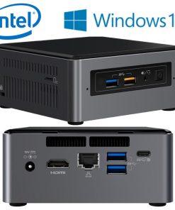 BOXNUC7I5BNHXF-Intel NUC BOXNUC7I5BNHXF mini PC i5-7260U 3.4GHz 4GB 1TB HDD M.2 16GB Optane Windows 10 Home HDMI USB-C (DP1.2) 3xDisplays GbE LAN WiFi BT 4xUSB3.0