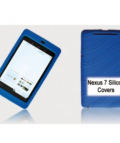 """NAL-T7SIL-BLUE-Tablet 7"""" Silicon Back Blue Back Case for Nexus 7 / 7"""" Tab"""