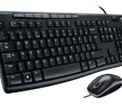 920-002693-Logitech MK200 Media Keyboard and Mouse Combo 1000dpi USB 2.0 Full-size Keyboard Thin profile Instant access to applications
