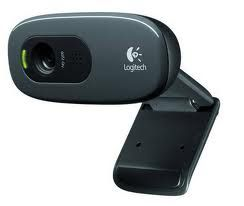 960-000584-Logitech C270 3MP HD Webcam 720p/Built in Mic/Light Correc/IM compatibility