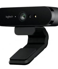 960-001105-Logitech BRIO 4K Ultra HD Webcam HDR RightLight3 5xHD Zoom Auto Focus Infrared Sensor Video Conferencing Streaming Recording Windows Hello Security