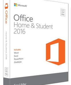 GZA-00984-Microsoft Office Mac Home & Student 2016- No DVD Retail Box (LS)