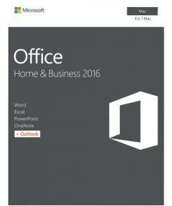 W6F-00921-Microsoft Office Mac Home & Business 2016 - No DVD Retail Box (LS) > SMS-OFHB2019-ML
