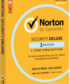 21380052-NORTON SECURITY DELUXE 3.0 AU 1 USER 3 DEVICE 12MO RETAIL