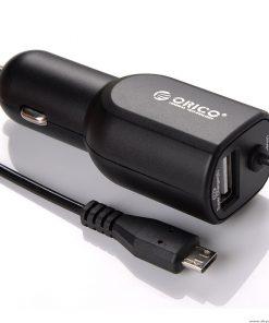 ORICO UCA-1U1C-BK-ORICO 2 Port USB Car Charger Compact 1x5V2 4A 1x5V1.5A BK