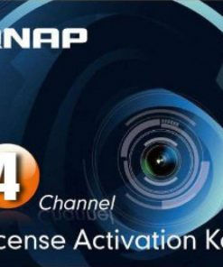 LIC-CAM-NAS-4CH-Qnap NAS Sureveillance License Activation Key 4 Pack for TS-463U-RP-4G