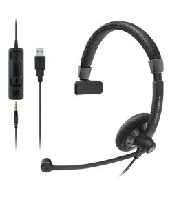SC 45 USB CONTROL-Sennheiser Monaural corded headset with 3.5 mm four-pole jack