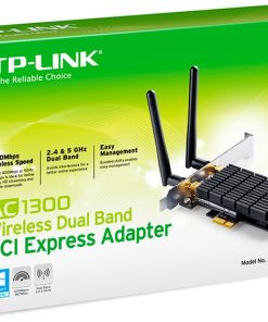 ARCHER T6E-TP-Link Archer T6E AC1300 Wireless Dual Band PCI Express Adapter 1300Mbps 5GHz (867Mbps) 2.4GHz (400Mbps)  802.11ac 2x External Antennas ~TL-WDN4800