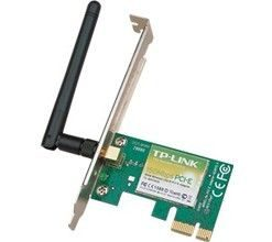 TL-WN781ND-TP-Link TL-WN781ND N150 Wireless N PCI Express Adapter 2.4GHz (150Mbps) 802.11bgn 1x2dBi Detachable Omni Directional Antennas WPA/WPA2
