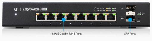 ES-8-150W-AU-Ubiquiti EdgeSwitch Managed PoE+ Giga Switch  8 Port 150W