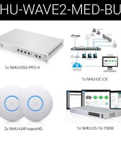 Wave2-Med-Bun-Ubiquiti Wave2 UniFi Wireless and Security Medium Business Bundle