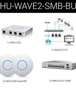 Wave2-SMB-BUN-Ubiquiti Wave2 UniFi Wireless and Security Small Business Bundle