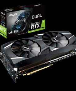 DUAL-RTX2070-O8G-ASUS nVidia DUAL-RTX2070-O8G GeForce RTX2070 OC Edition 8GB GDDR6 Graphics Card