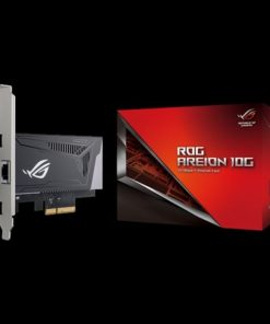 ROG AREION 10G-ASUS ROG AREION 10G Superfast 10G speed with backwards compatibility of 5/2.5/1G and 100Mbps; full-sized heatsink and LAN speed indicators