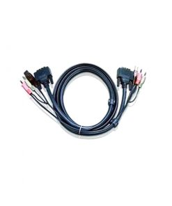 2L-7D02UD-Aten 1.8m Dual Link DVI KVM Cable with Audio to suit CS178xA