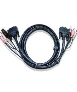 2L-7D02UI-Aten 1.8m DVI-I (Single Link) Male to Male with USB Type A Male to Type B Female