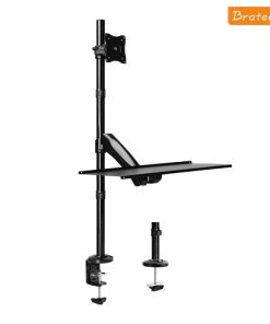 "DWS01-C01-Brateck Single Monitor Sit-Stand Workstation for 13""-27"" LCD Monitors and Screens"