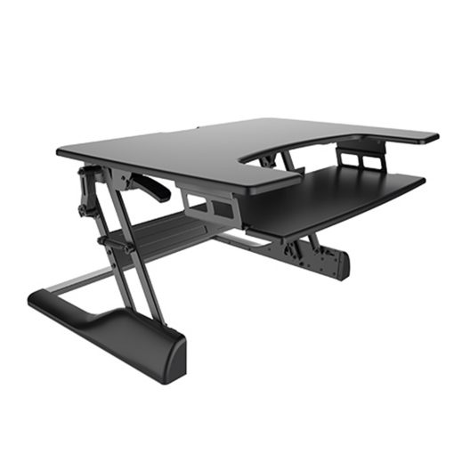 DWS04-01-Brateck Height-Adjustable Sit and Stand Desk Z Lift Holds up to 15kg Stepless height settings 900mm width