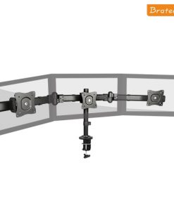 LDT06-C03-Brateck Triple Monitor Arm Mounts with Desk Clamp VESA 75/100mm Up to 27""