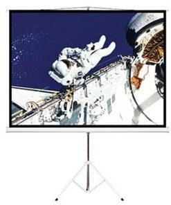 "PSDA65-Brateck 65"" (1.45m x 0.81m) Tripod Portable Projector Screen (16:9 ratio) Black"