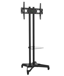 """T1021B-Brateck Portable TV Cart with Roller for LCD Screen Size 37"""" – 70"""""""
