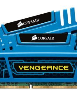 CMZ8GX3M2A1600C9B-Corsair Vengeance 8GB (2x4GB) DDR3 1600MHz C9 Desktop Gaming Memory Blue