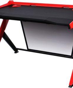 GD/1000/NR-DXRacer 1000 Series Gaming Desk - Black & Red