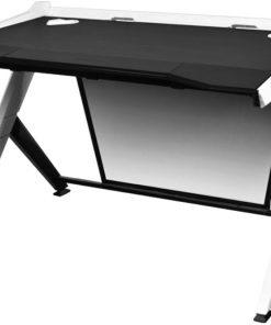 GD/1000/NW-DXRacer 1000 Series Gaming Desk - Black & White